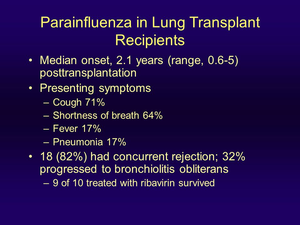 Parainfluenza in Lung Transplant Recipients