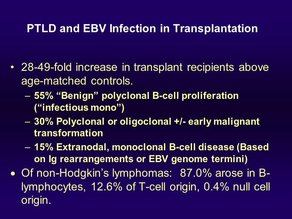 PTLD and EBV Infection in Transplantation