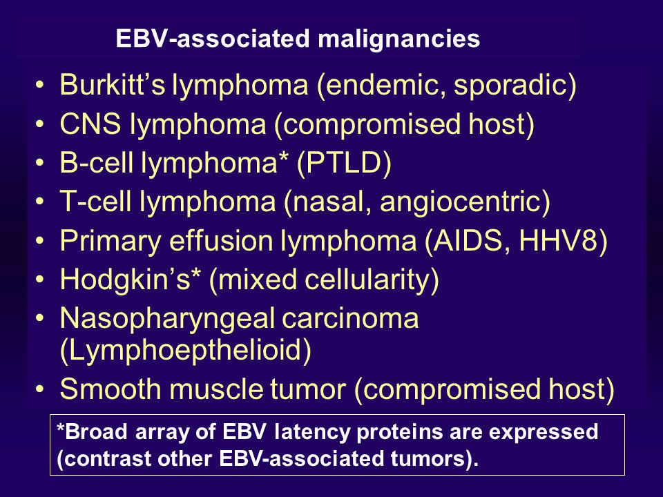 EBV-associated malignancies