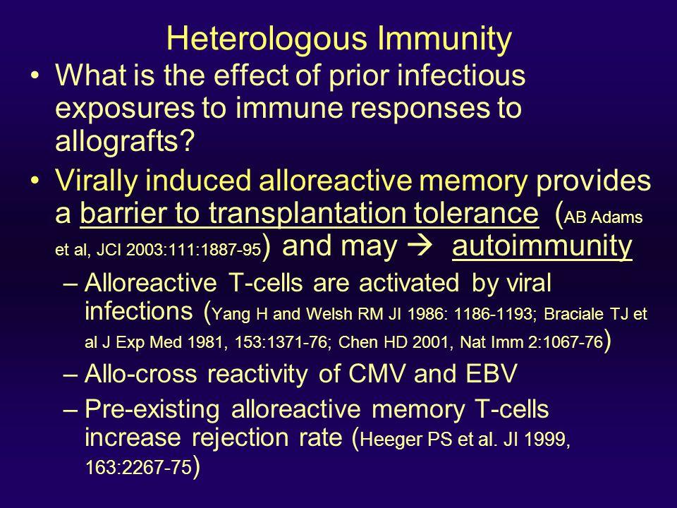 Heterologous Immunity