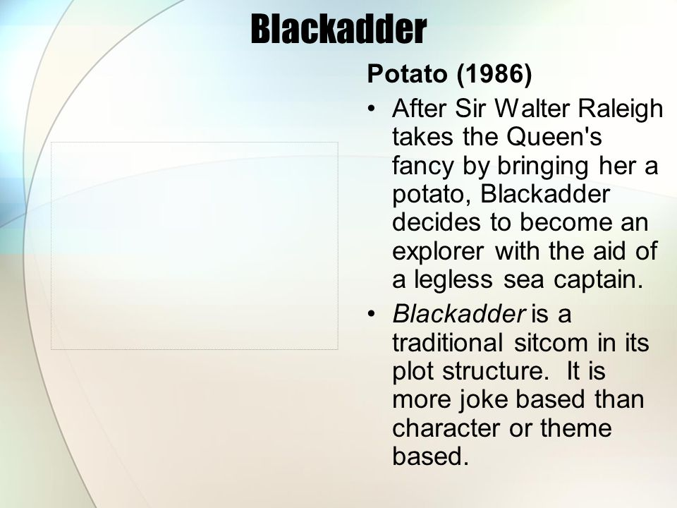 Blackadder Potato (1986)