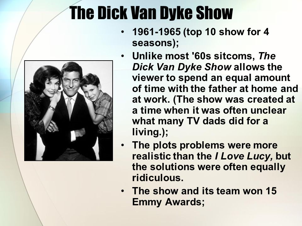 The Dick Van Dyke Show 1961-1965 (top 10 show for 4 seasons);