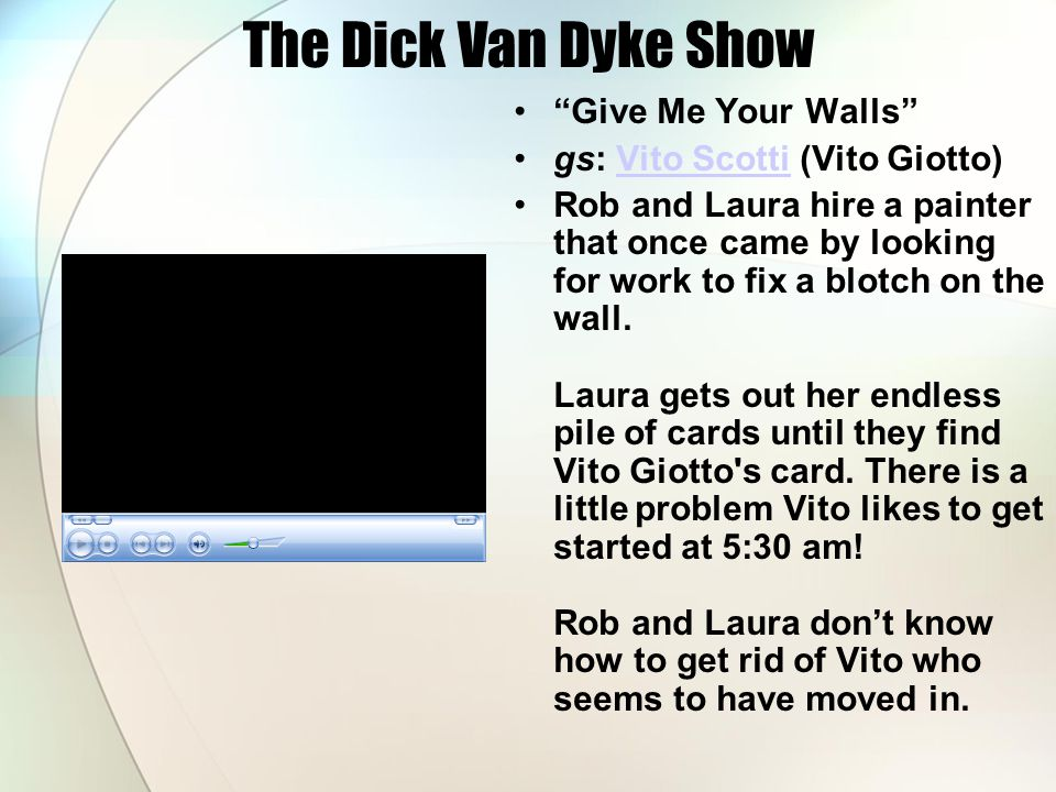 The Dick Van Dyke Show Give Me Your Walls