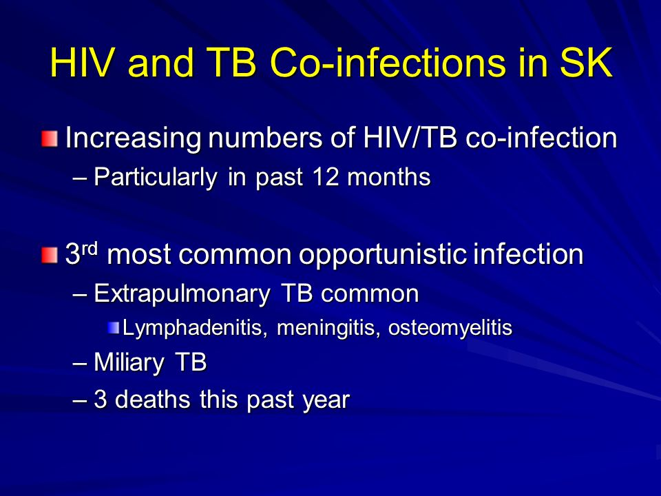 HIV and TB Co-infections in SK