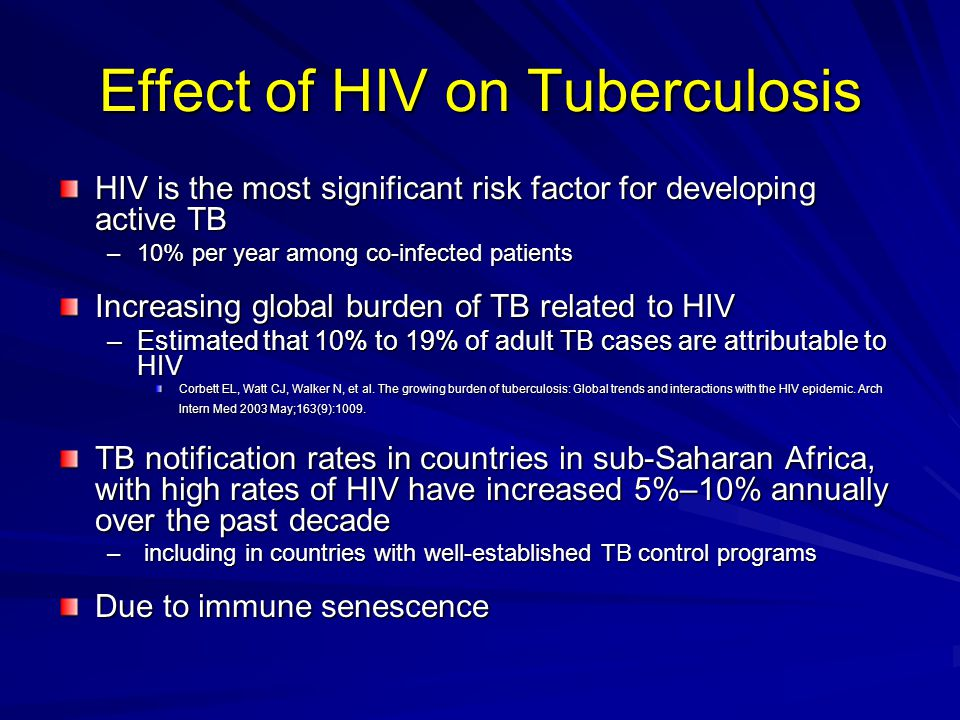 Effect of HIV on Tuberculosis