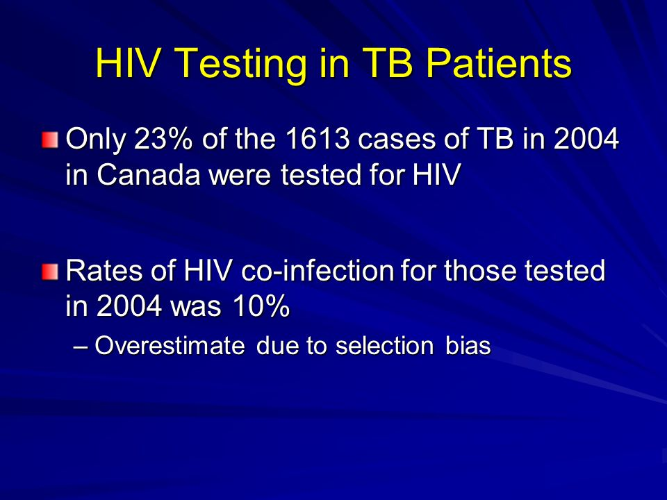 HIV Testing in TB Patients