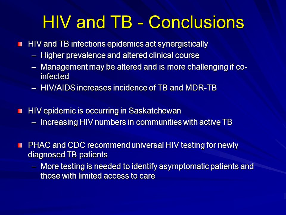 HIV and TB - Conclusions