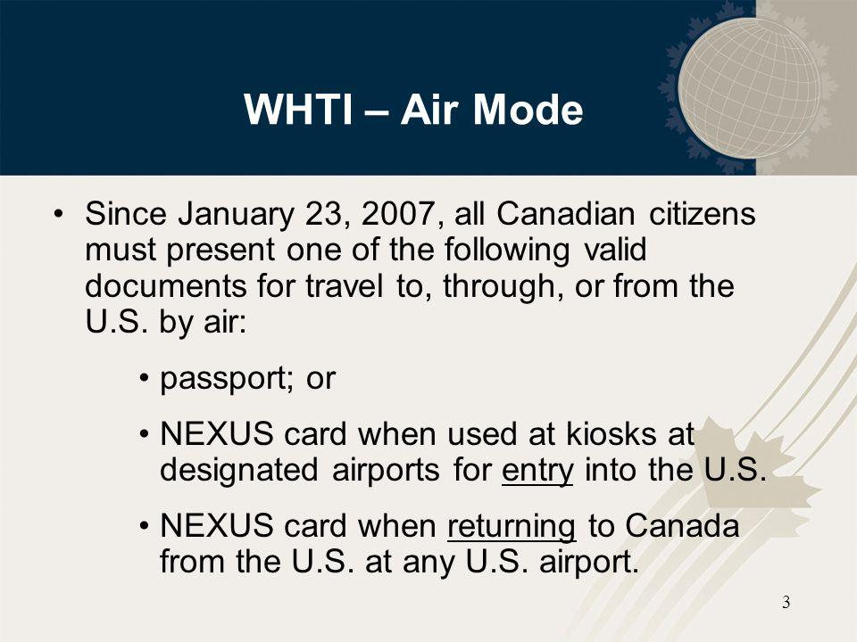 WHTI – Air Mode