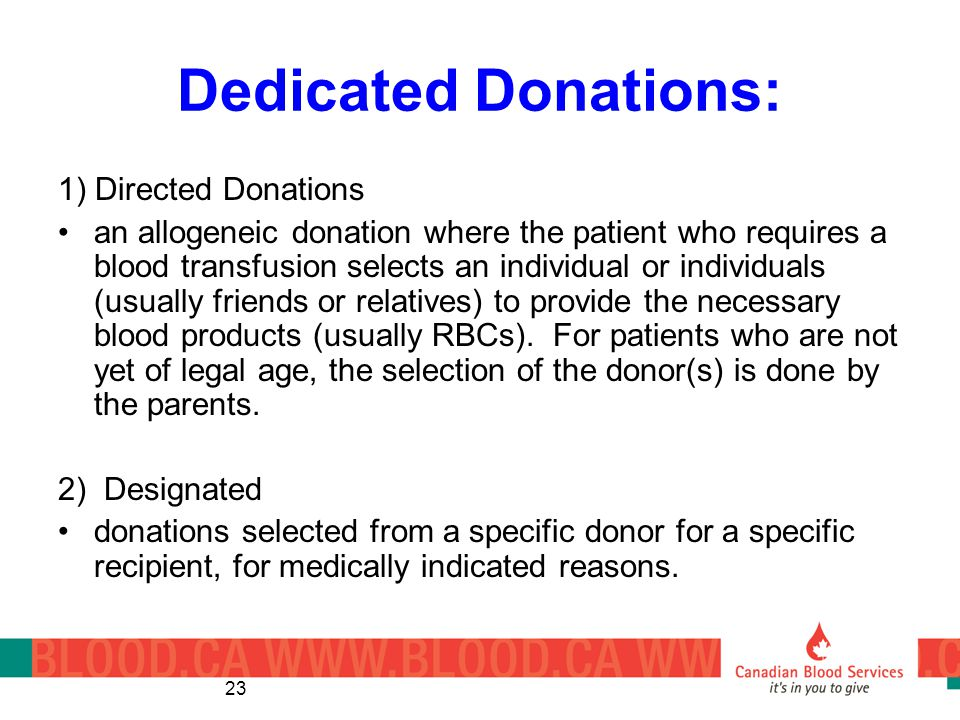 Dedicated Donations: 1) Directed Donations
