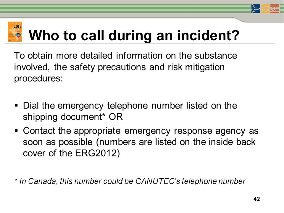 Who to call during an incident