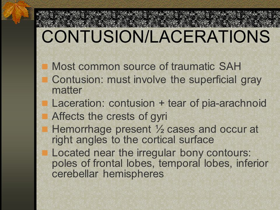 CONTUSION/LACERATIONS