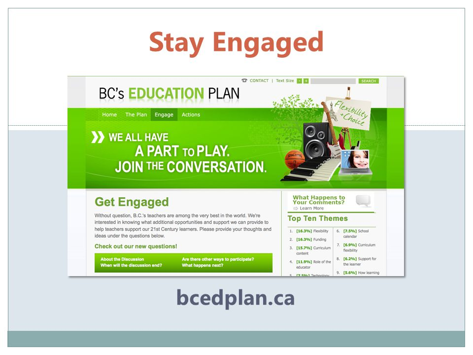 Stay Engaged bcedplan.ca