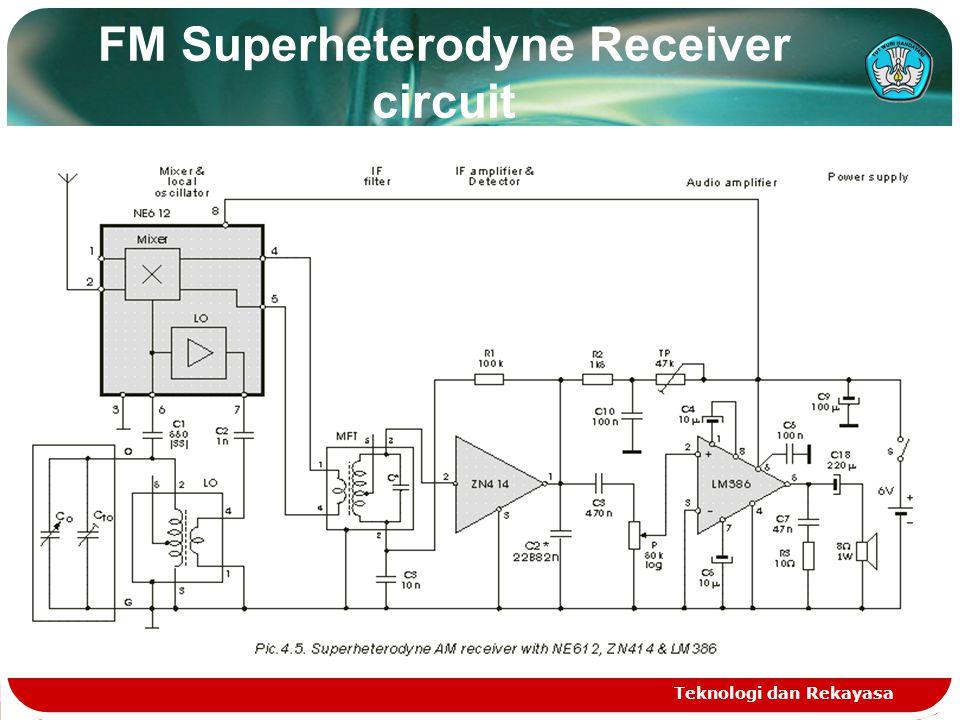 FM Superheterodyne Receiver circuit