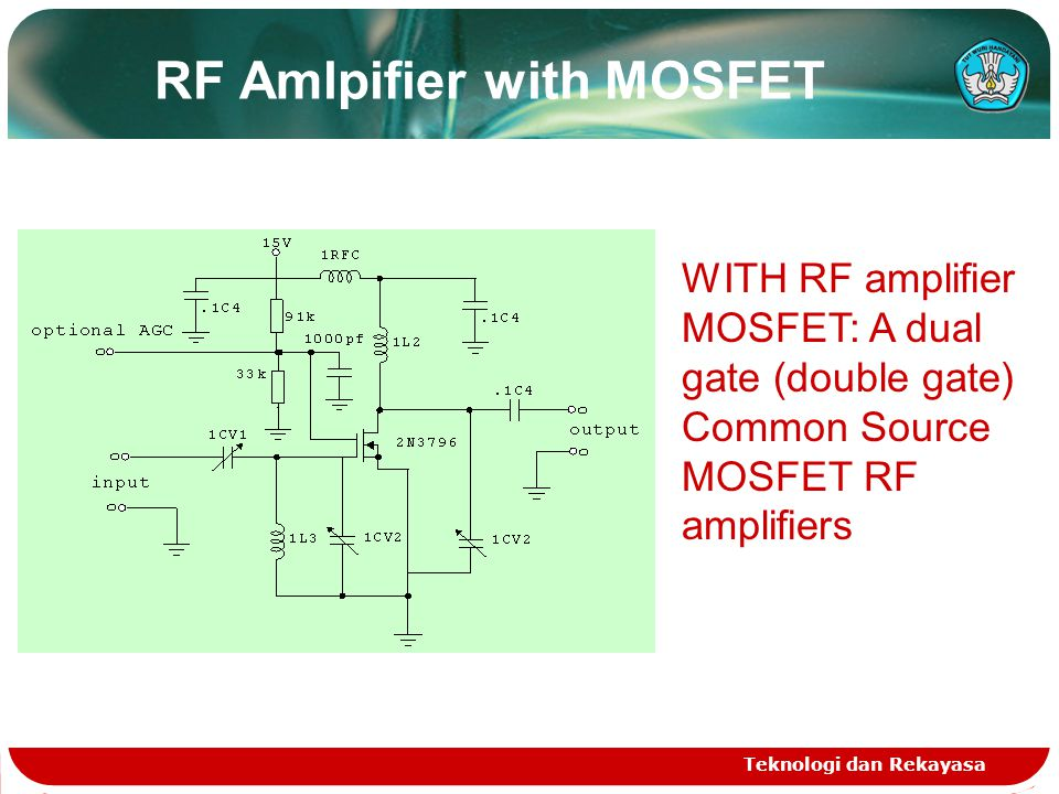 RF Amlpifier with MOSFET