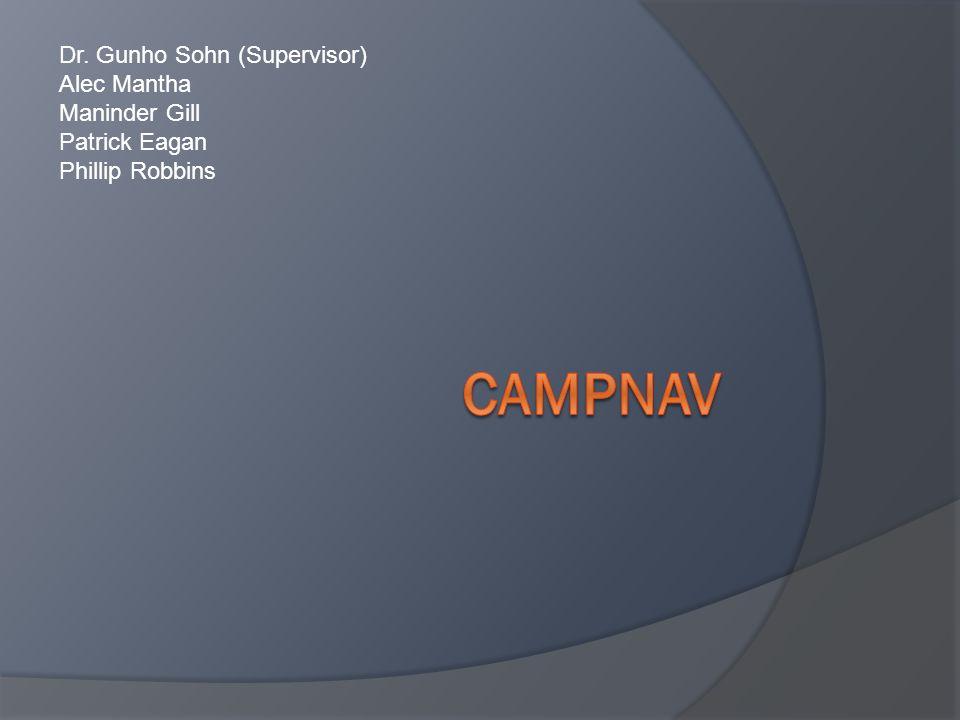 Campnav Dr. Gunho Sohn (Supervisor) Alec Mantha Maninder Gill