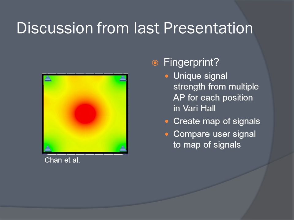 Discussion from last Presentation