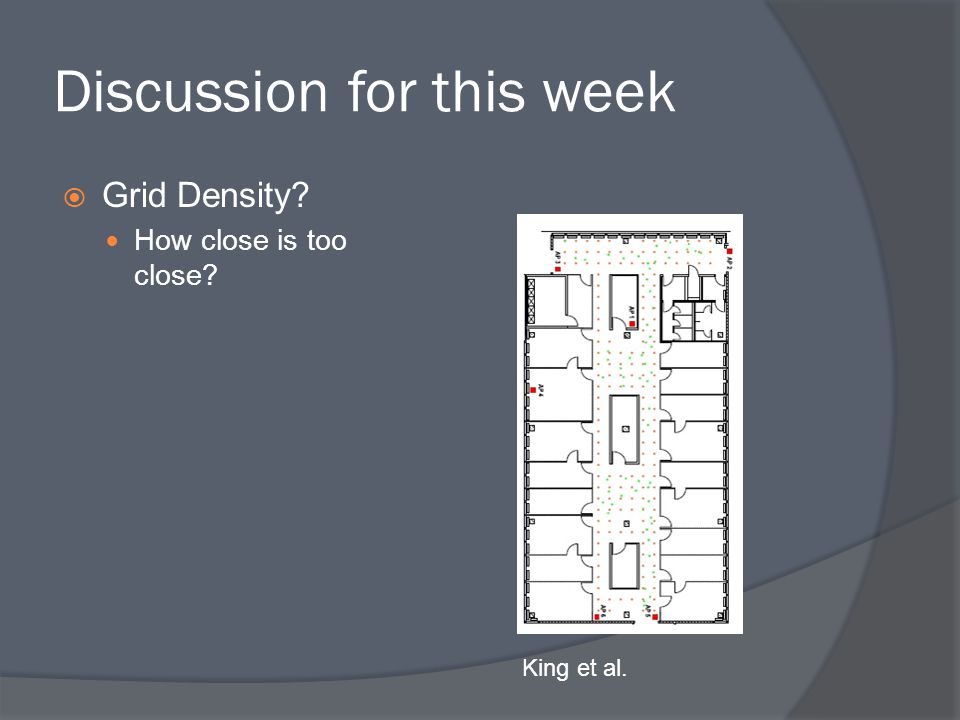 Discussion for this week