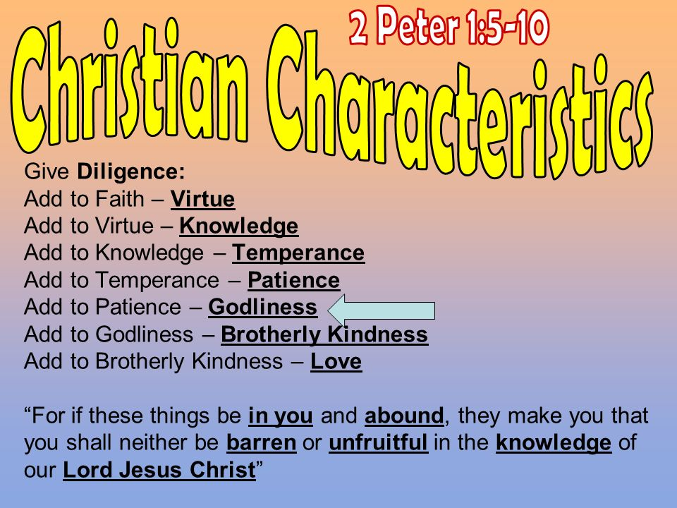 Christian Characteristics