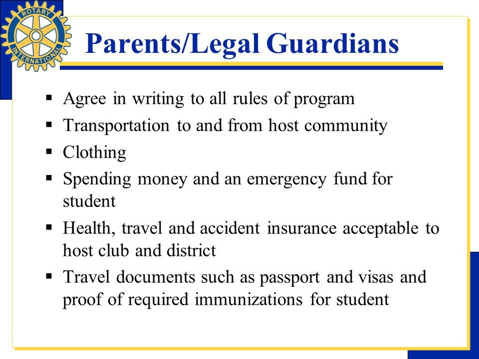 Parents/Legal Guardians