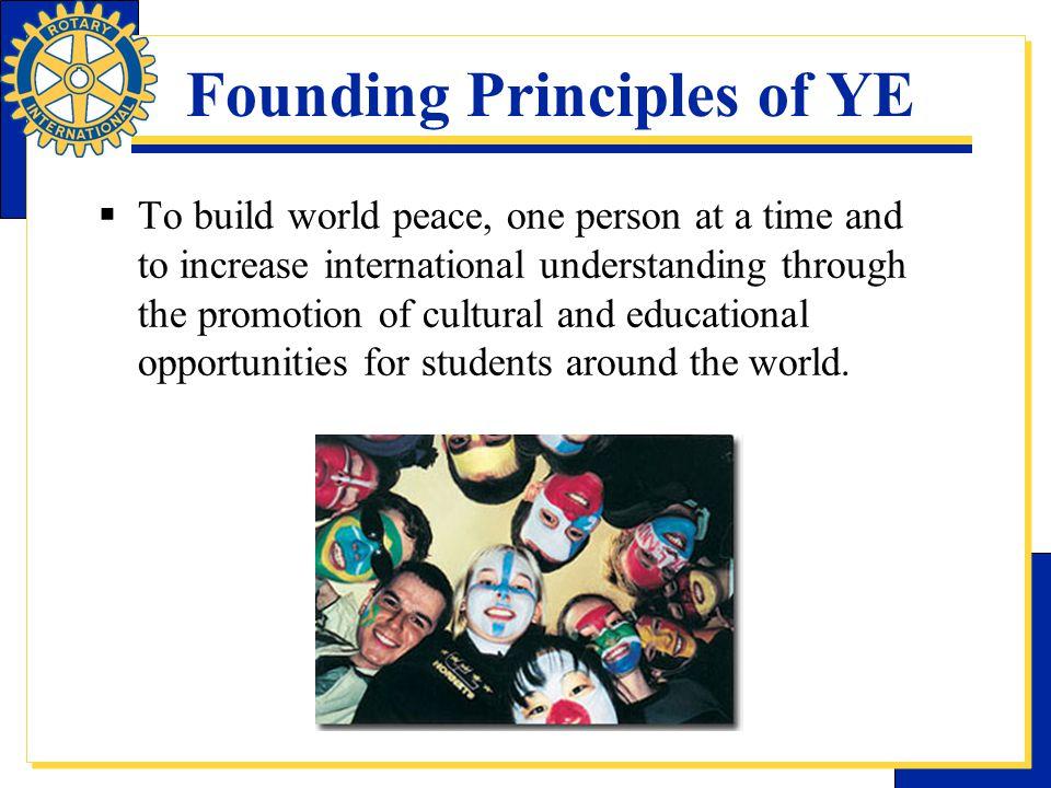 Founding Principles of YE