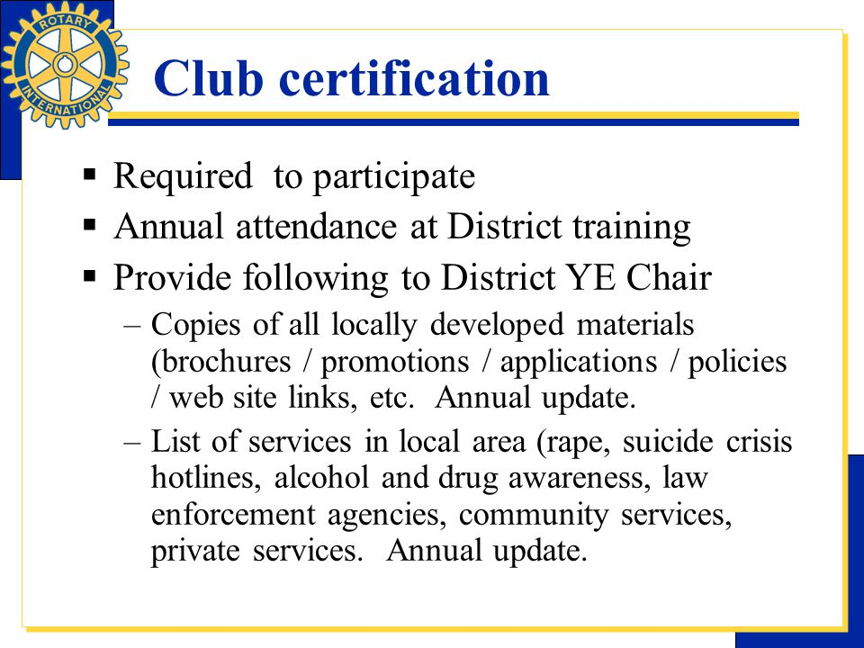 Rotary D7040 YE Training Session, Ogdensburg, NY
