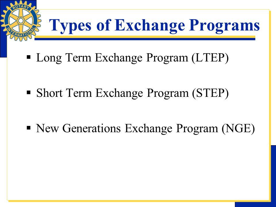 Types of Exchange Programs