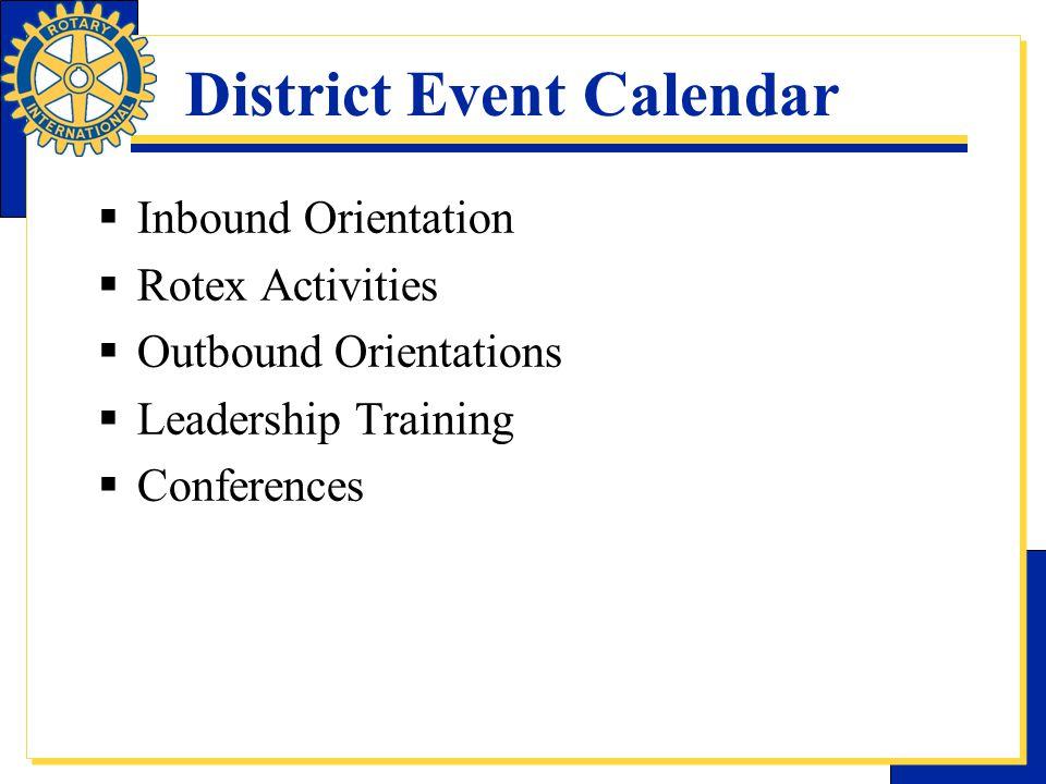 District Event Calendar