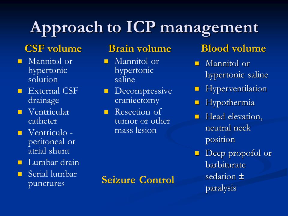 Approach to ICP management
