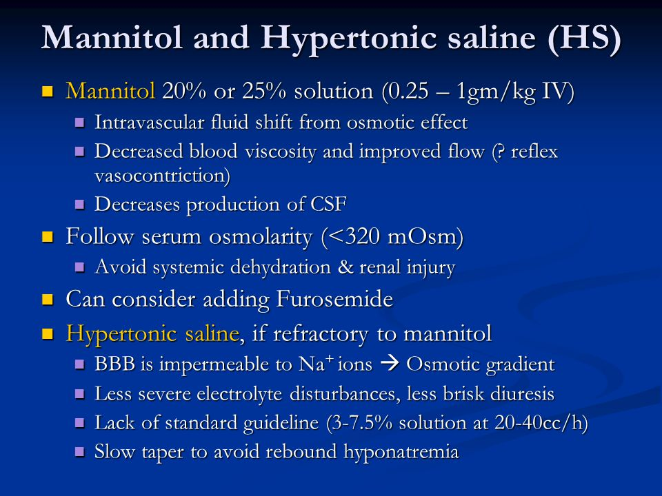 Mannitol and Hypertonic saline (HS)