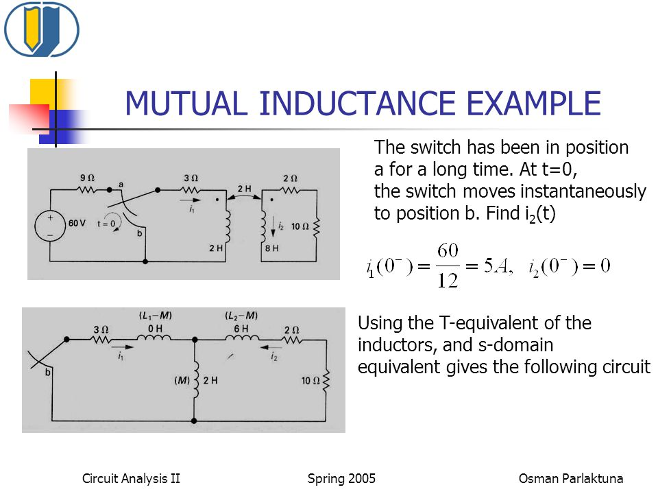 MUTUAL INDUCTANCE EXAMPLE