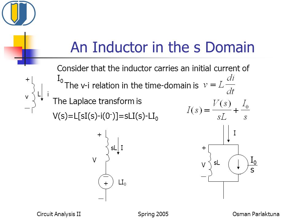 An Inductor in the s Domain