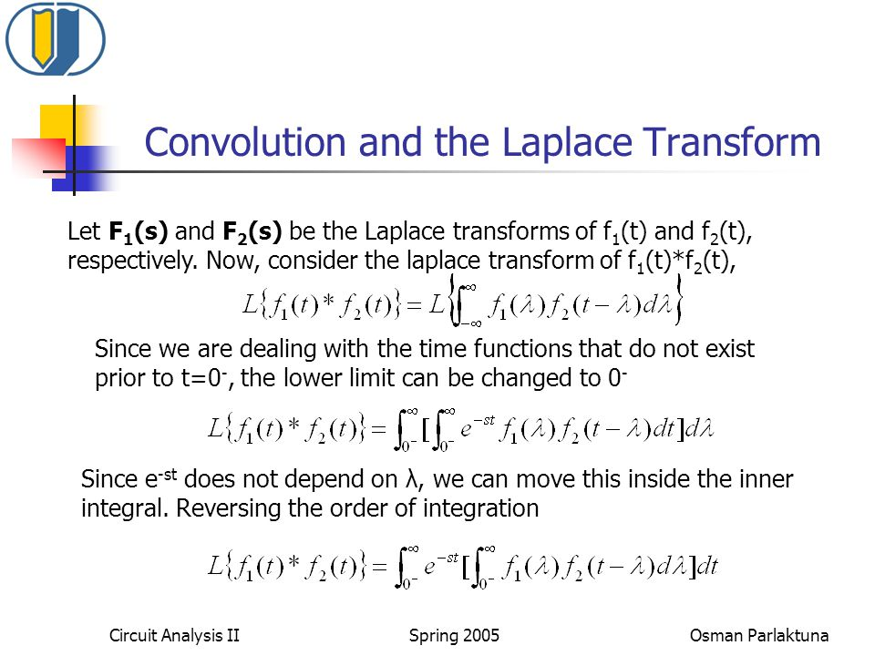 Convolution and the Laplace Transform