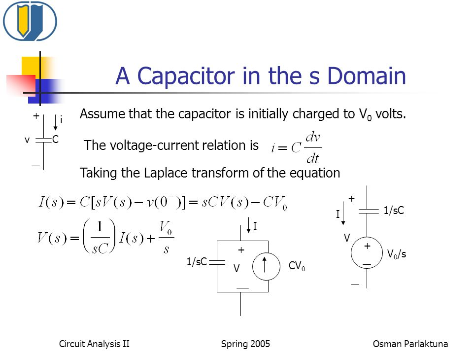 A Capacitor in the s Domain