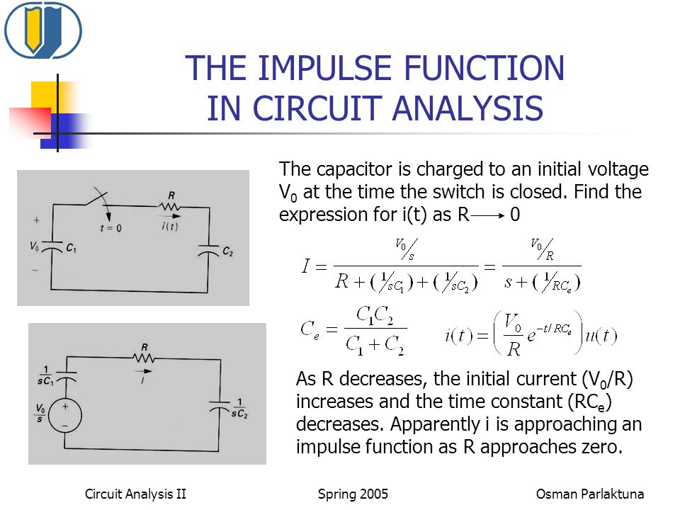 THE IMPULSE FUNCTION IN CIRCUIT ANALYSIS