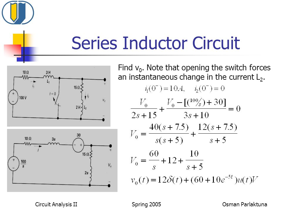 Series Inductor Circuit