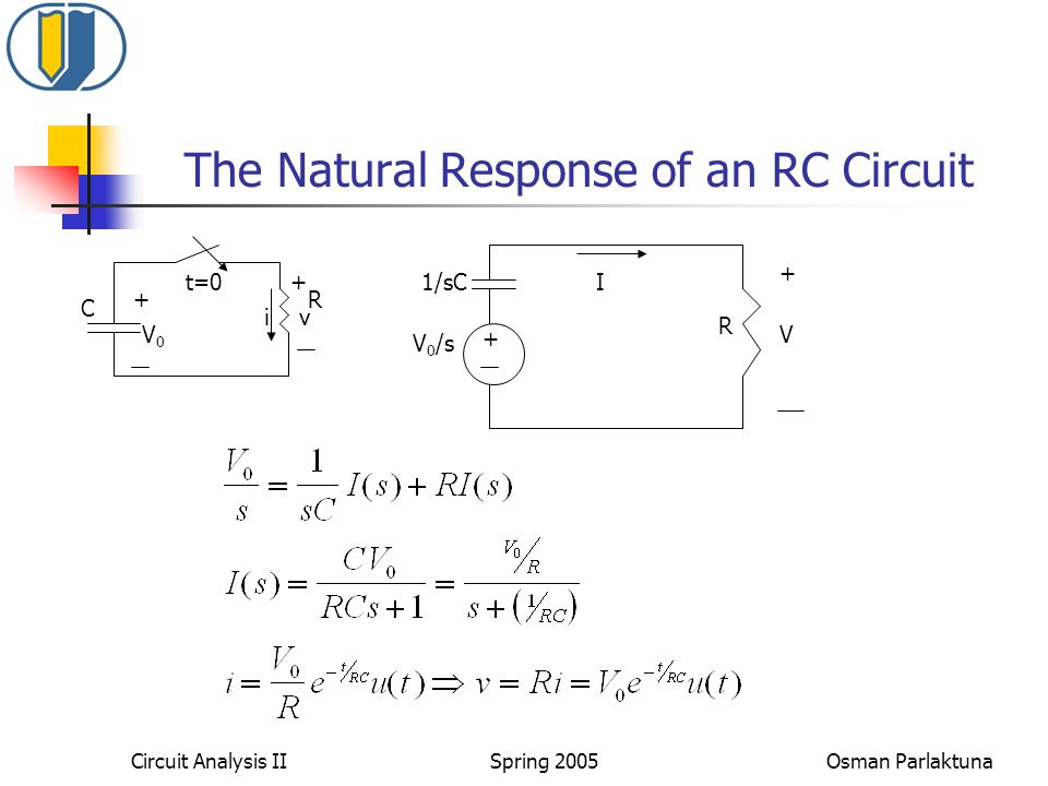The Natural Response of an RC Circuit