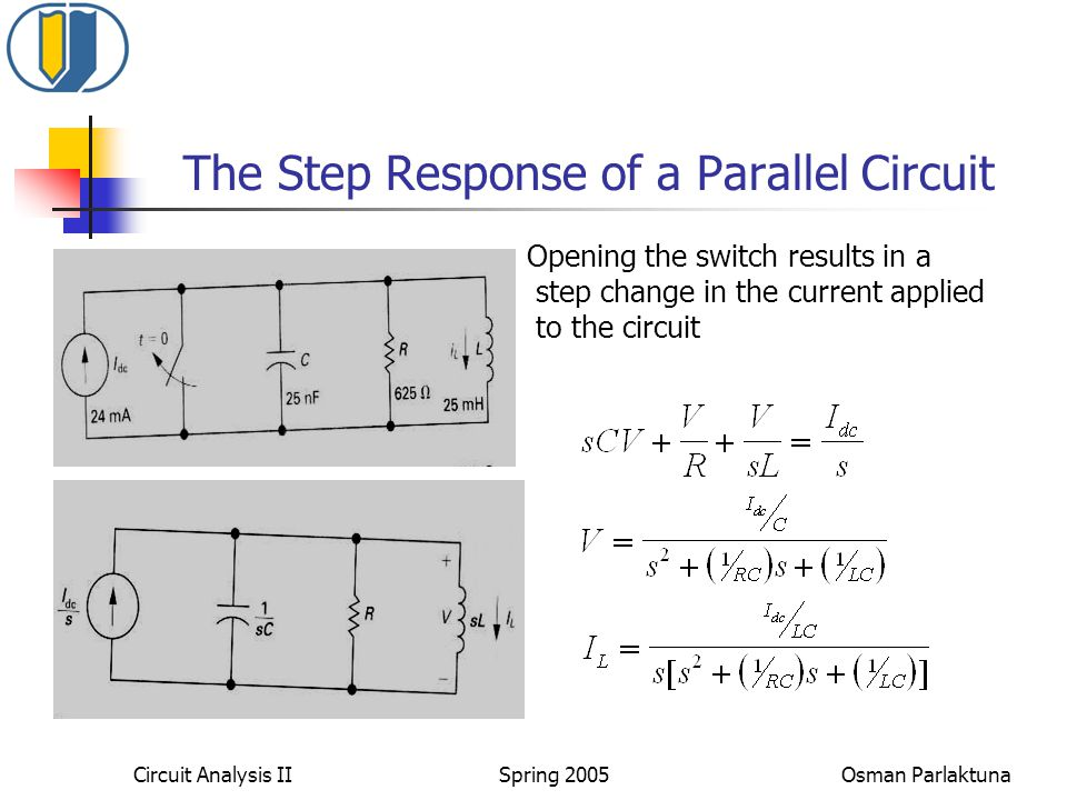 The Step Response of a Parallel Circuit