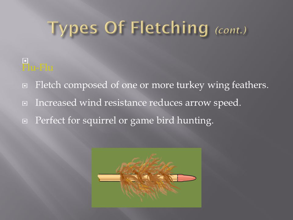 Types Of Fletching (cont.)