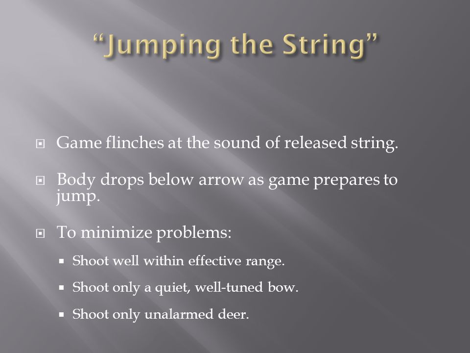 Jumping the String Game flinches at the sound of released string.