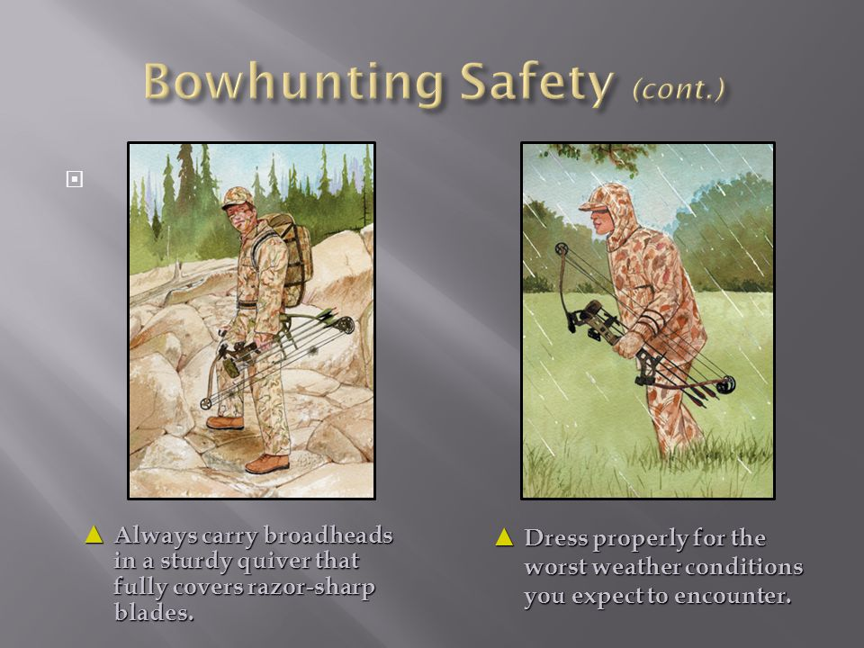 Bowhunting Safety (cont.)