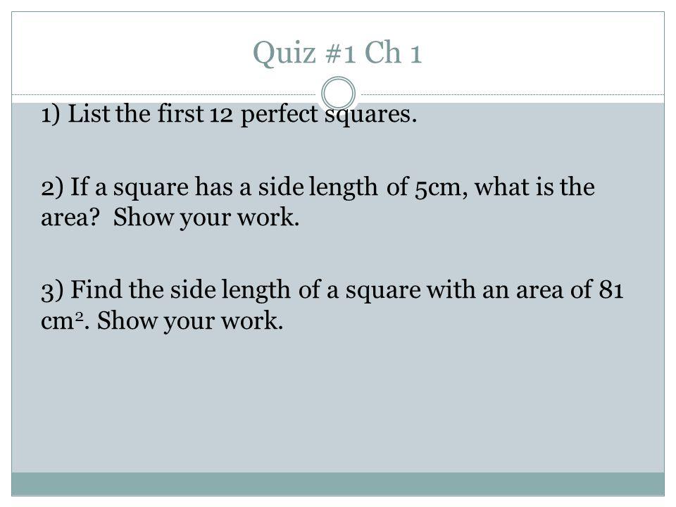 Quiz #1 Ch 1