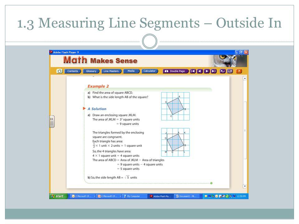 1.3 Measuring Line Segments – Outside In