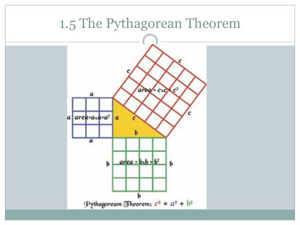 1.5 The Pythagorean Theorem