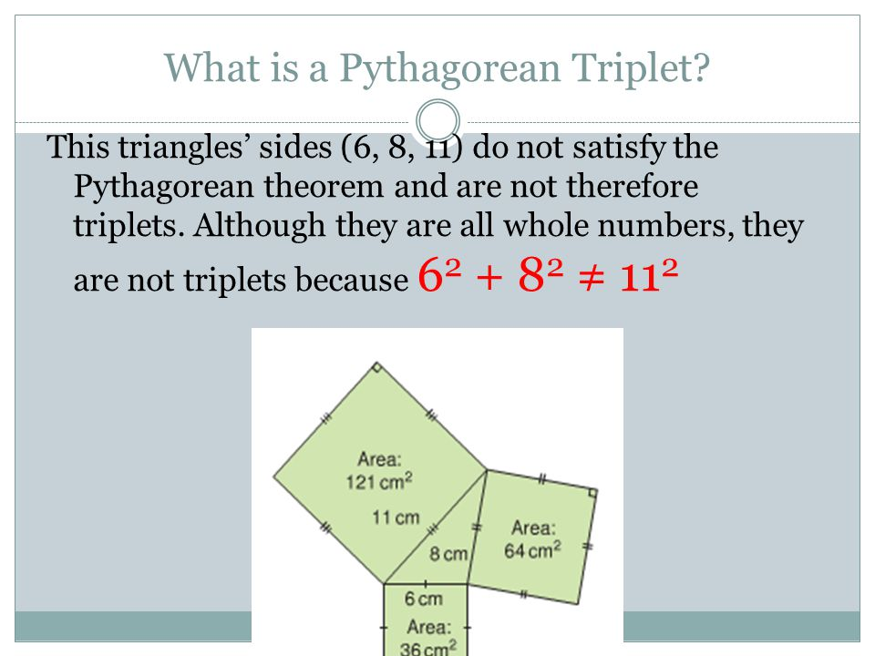 What is a Pythagorean Triplet