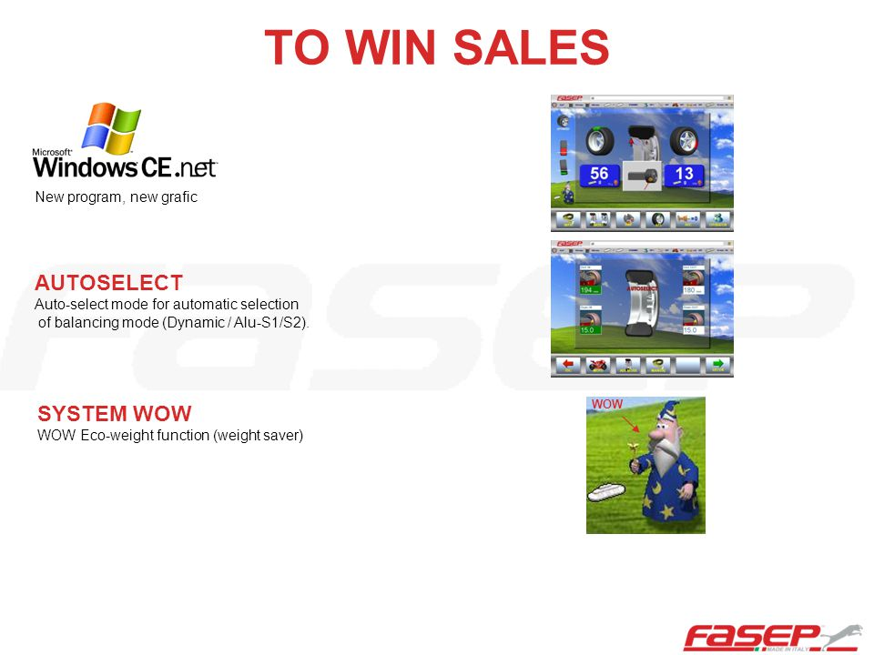 TO WIN SALES AUTOSELECT SYSTEM WOW New program, new grafic