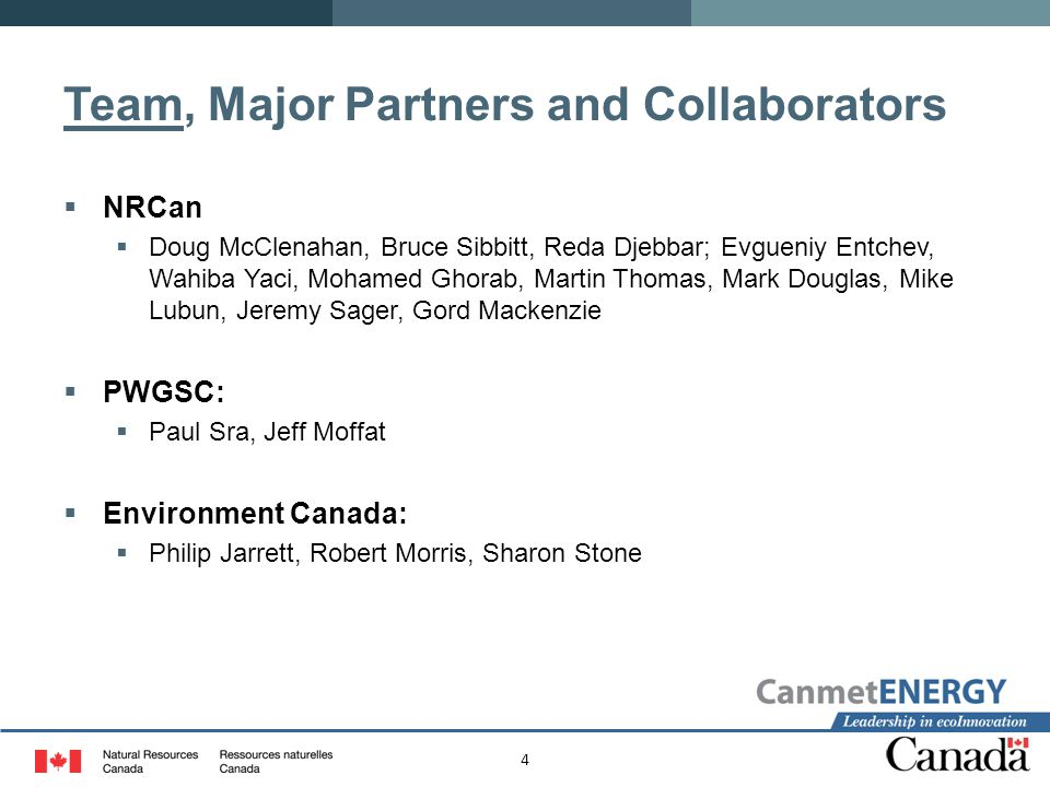 Team, Major Partners and Collaborators