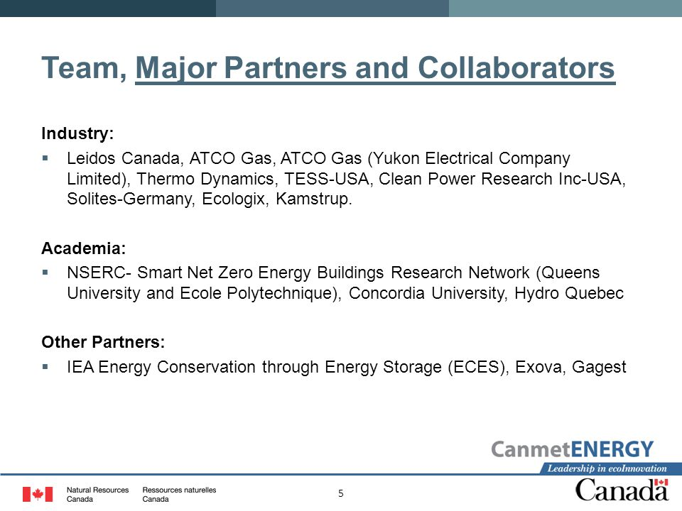 Team, Major Partners and Collaborators