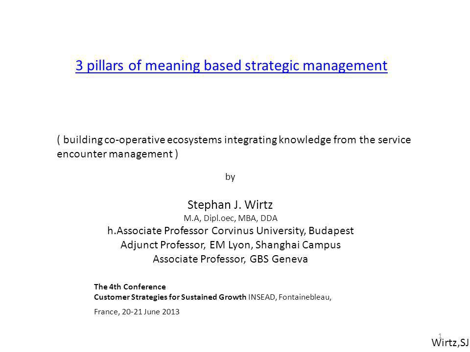 3 pillars of meaning based strategic management