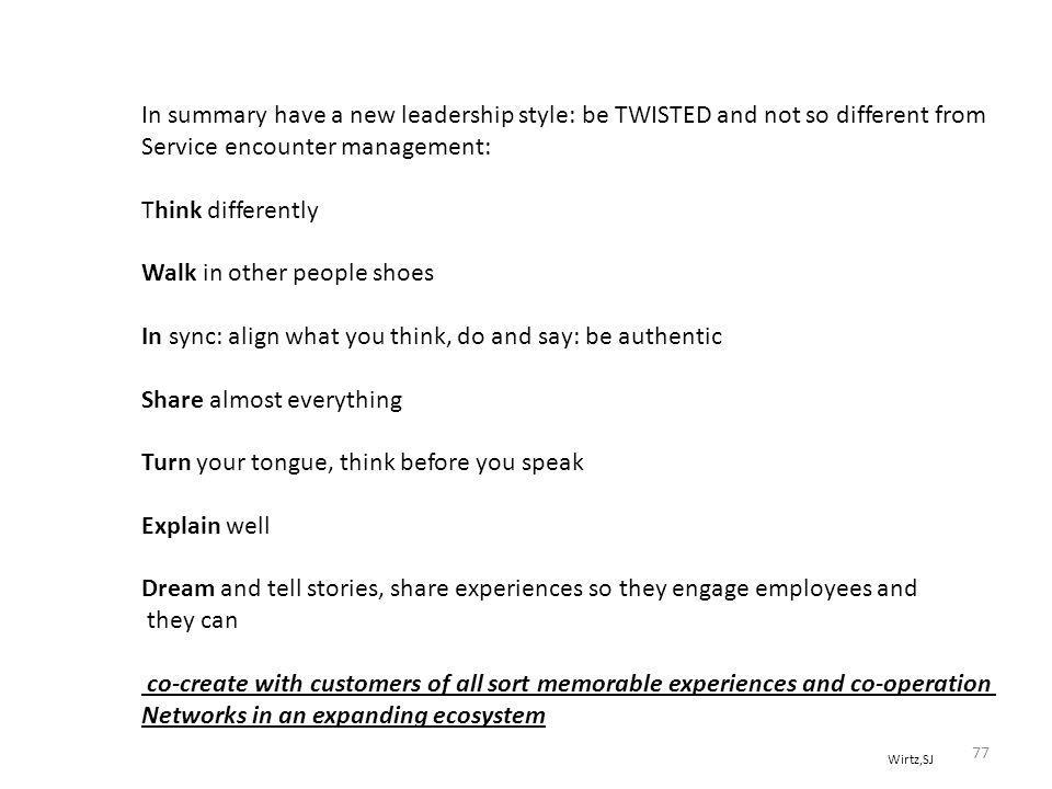 Service encounter management: Think differently