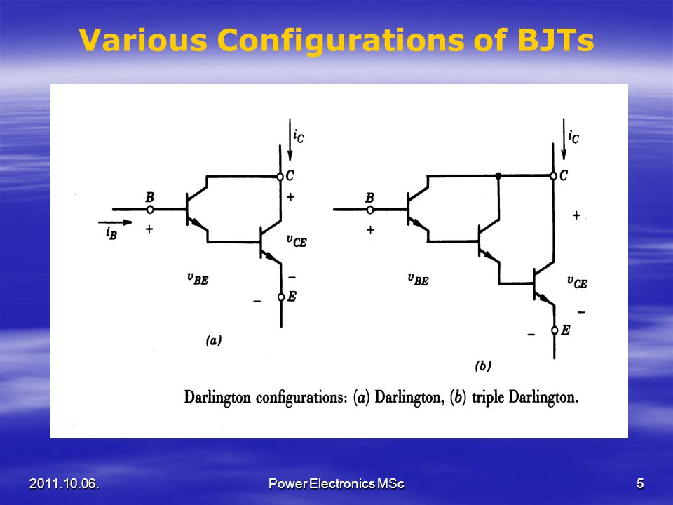 Various Configurations of BJTs